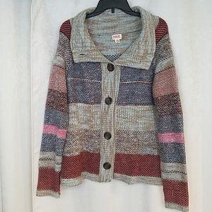 Mossimo Striped Cardigan Size XL